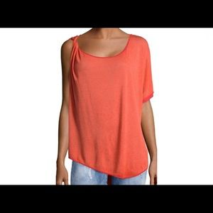 Free People, One Sleeve Pluto Asymmetrical Top XS